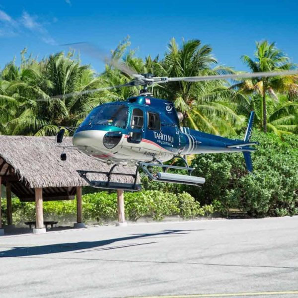 helicoptere decollage moorea