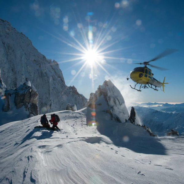 helicoptere ski montagne