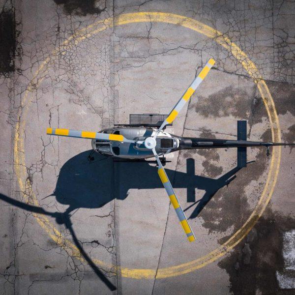 Hélicoptère au sol Annemasse