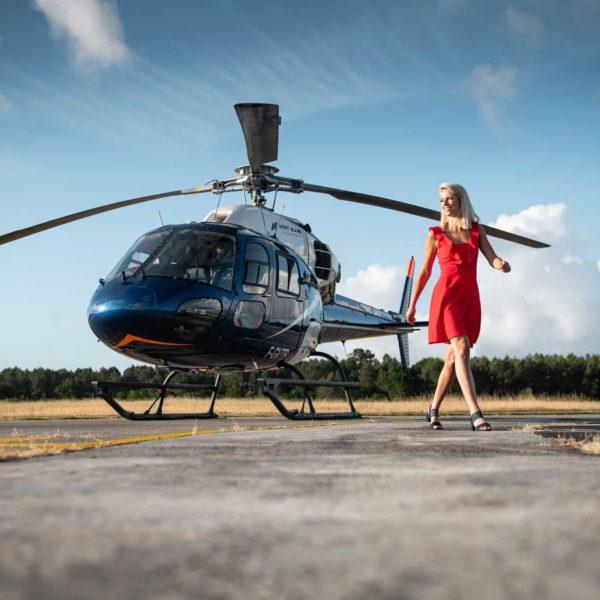hélicoptère aérodrome la teste de Buch Arcachon