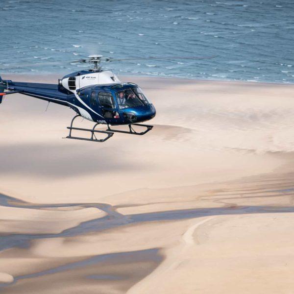 Hélicoptère bassin d'Arcachon