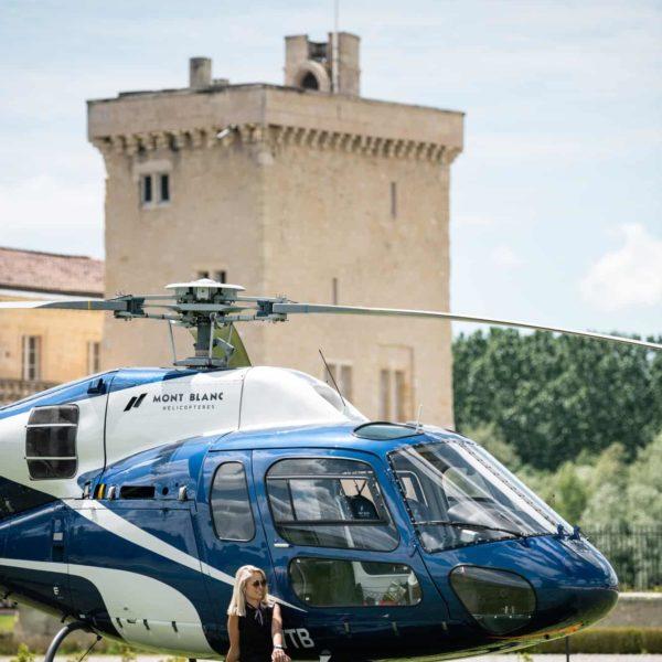 hélicoptère bordeaux vignobles