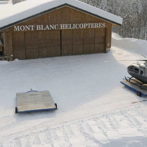 mont blanc helicoptere megeve base