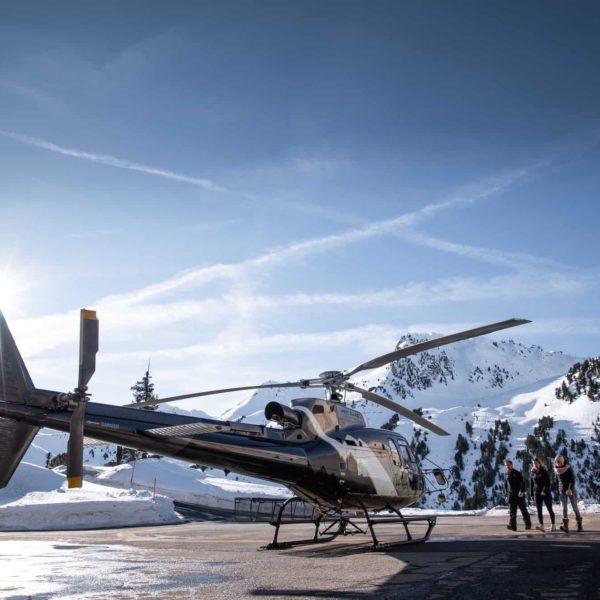 helicoptere mont blanc transfert privé