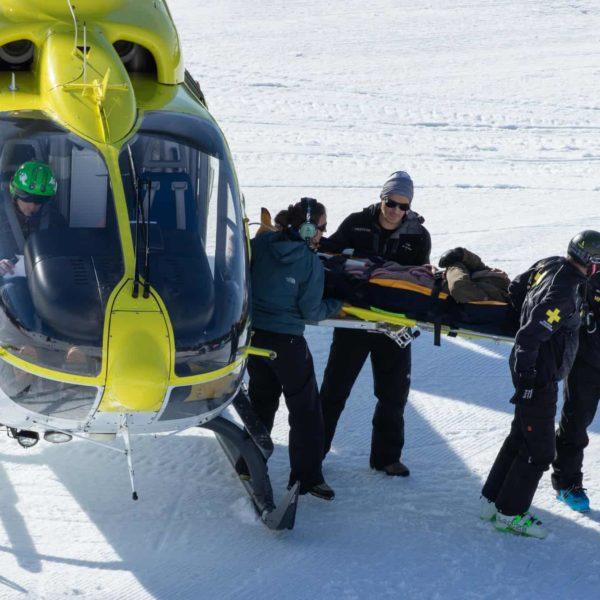 Hélicoptère Avoriaz secours en montagne