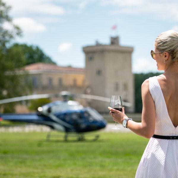 helicoptere bordeaux visite vignobles