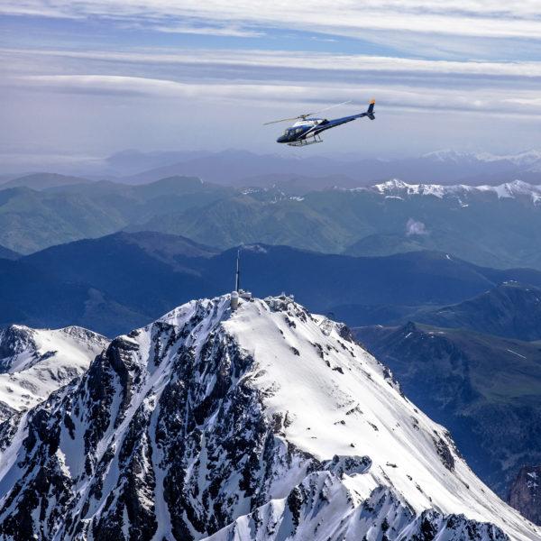 helicoptere pic du midi prechac